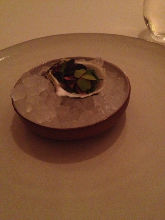 Oyster, sorrell. buckwheat and champagne