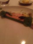 Foie Gras terrine, truffle, asparagus