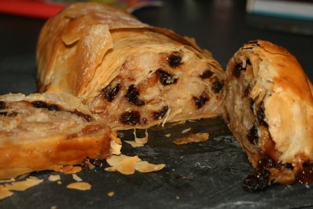 Pear and Earl Grey Strudel