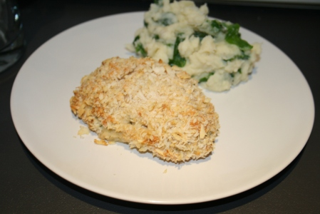 Chicken kiev, stuffed with goat's cheese and tarragon